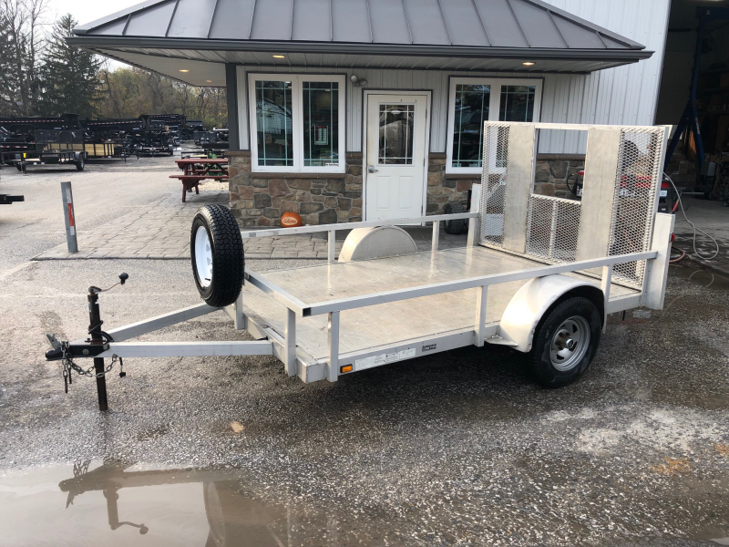 """USED 2009 Continental Cargo Aluminum 6x10' Utility Landscape Trailer * EXTRUDED FLOOR * SPARE TIRE * 2X2"""" TUBE TOP RAIL * TIE DOWNS"""