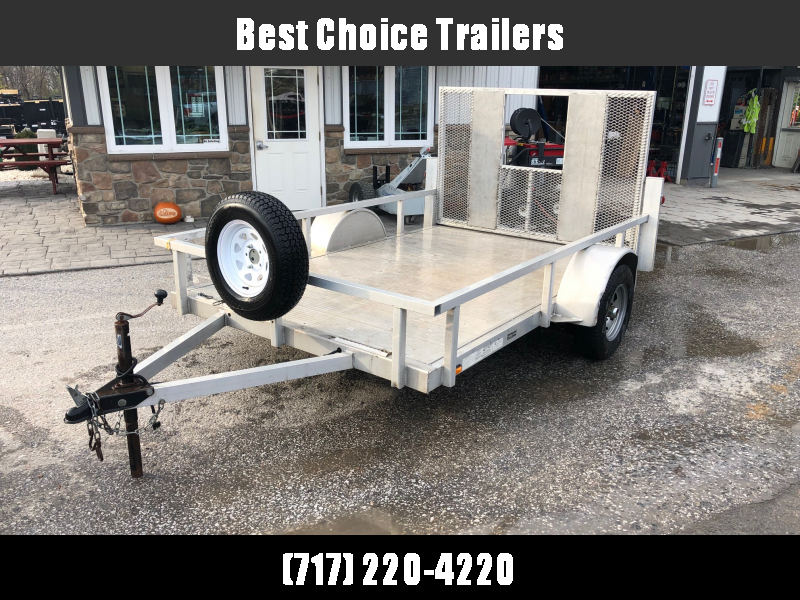 "USED 2009 Continental Cargo Aluminum 6x10' Utility Landscape Trailer * EXTRUDED FLOOR * SPARE TIRE * 2X2"" TUBE TOP RAIL * TIE DOWNS"