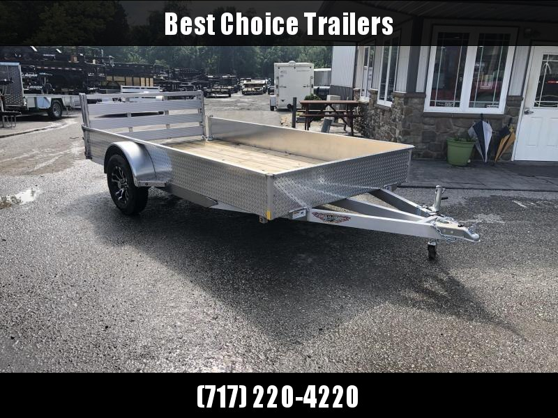 "2019 H&H 76""x12' Aluminum Solid Side Utility Landscape Trailer 2990# GVW * BI FOLD GATE"