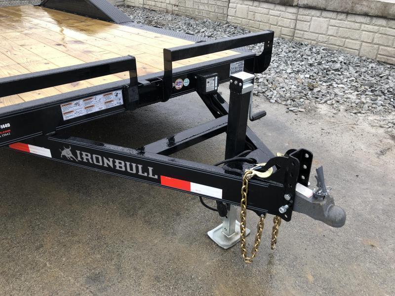 "2019 Iron Bull 102""x22' Wood Deck Car Trailer 9990# GVW * 102"" DECK * DRIVE OVER FENDERS"