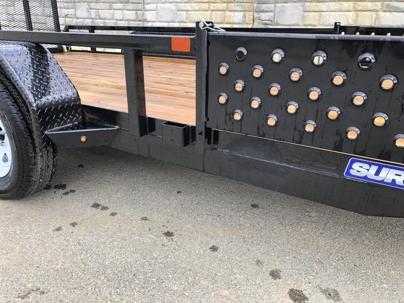 2019 Sure-Trac 7x16' Tube Top ATV Side Ramps Utility Landscape Trailer 7000# GVW