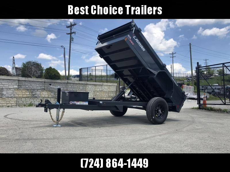 2019 Lamar 5x10' DS60 Dump Trailer 7000# GVW - SINGLE AXLE * TARP KIT * RAMPS * SPARE MOUNT * CHARCOAL