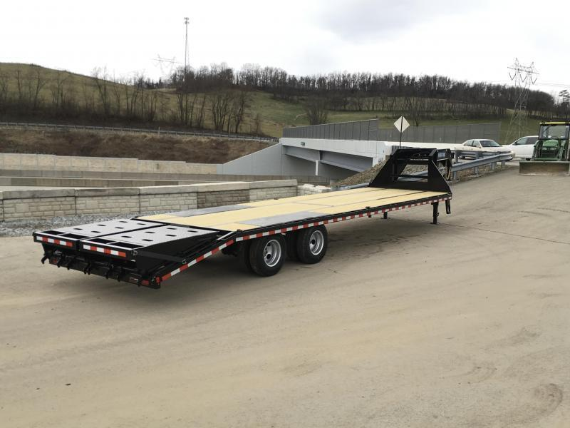 2018 Sure-Trac 102x27+5 22K Gooseneck Beavertail Deckover Trailer PIERCED FRAME * FULL WIDTH RAMPS