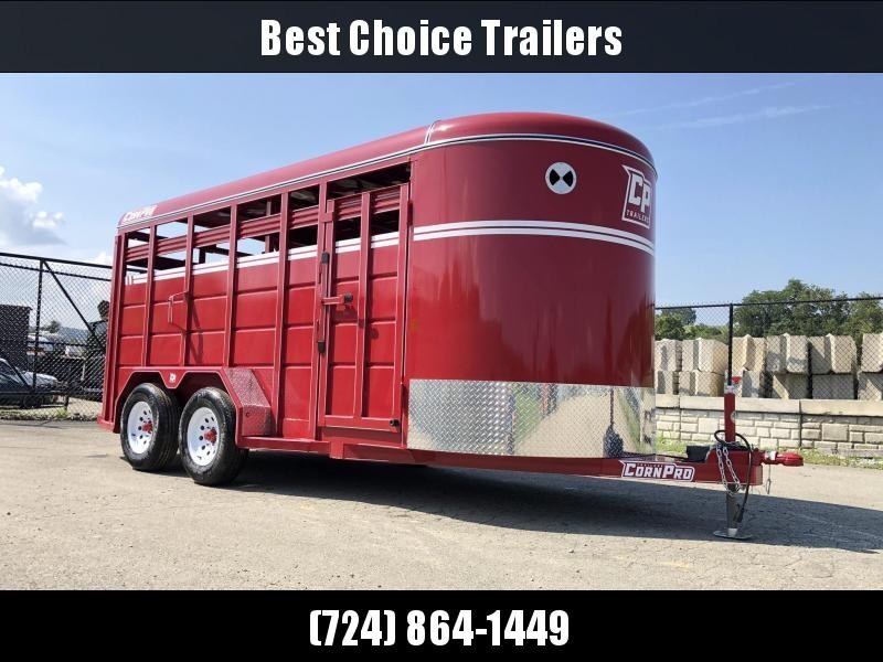 2019 Corn Pro 16' Livestock Trailer 7000# GVW * RED