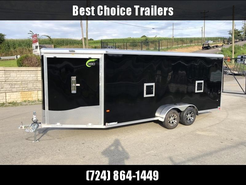 """2020 Neo 7x22' NASR Aluminum Enclosed All-Sport Trailer * DELUXE MODEL * CHARCOAL * +6"""" HEIGHT 7' INSIDE UTV PKG * ATV * Motorcycle * Snowmobile"""