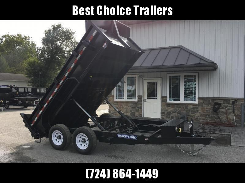 2019 Sure-Trac 7x12' LowPro Dump Trailer 9900# DUAL PISTON - BASE