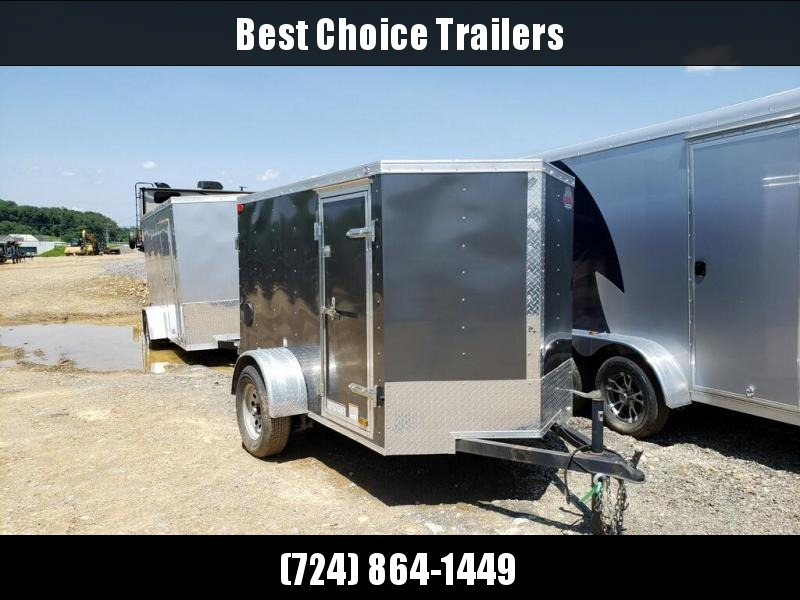 USED 2017 Cargo Mate 5x8' Enclosed Cargo Trailer 2990# GVW * SIDE DOOR * BARN DOORS * SPARE TIRE * LOTS OF TIE DOWNS