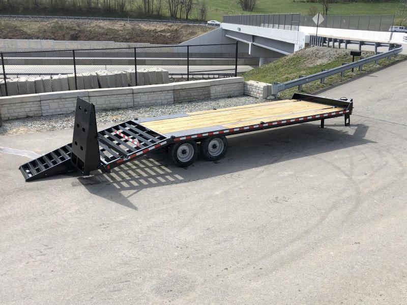 "2019 Sure-Trac 102""x20+5' LowPro Beavertail Deckover Trailer 22500# GVW * 10000# AXLES * PIERCED FRAME * FULL WIDTH RAMPS * 12"" I-BEAM"