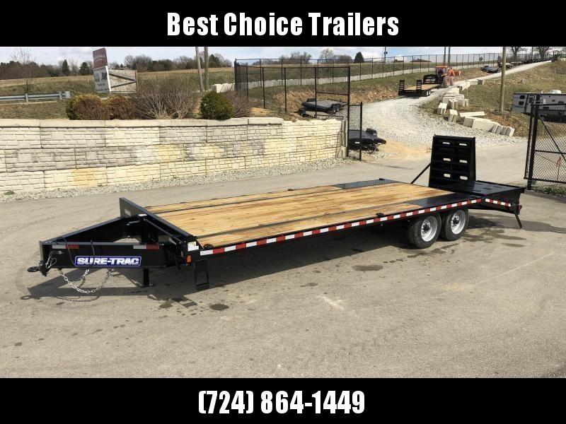"2019 Sure-Trac 102""x20+5' LowPro Beavertail Deckover Trailer 22500# GVW * 10000# AXLES * PIERCED FRAME * FULL WIDTH RAMPS * 12"" I-BEAM"