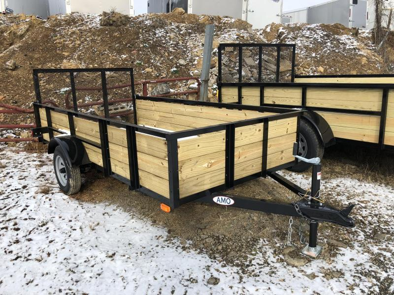 2019 AMO 5x10' Wood Side Utility Trailer 2200# GVW