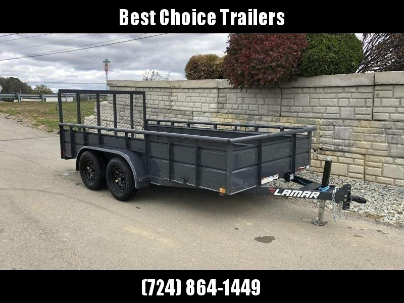 2019 Lamar 7x14' Utility Trailer 7000# GVW * 2' STEEL HIGH SIDES *  TUBE TOP * ADJUSTABLE COUPLER * DROP LEG JACK * TIE DOWN RAIL