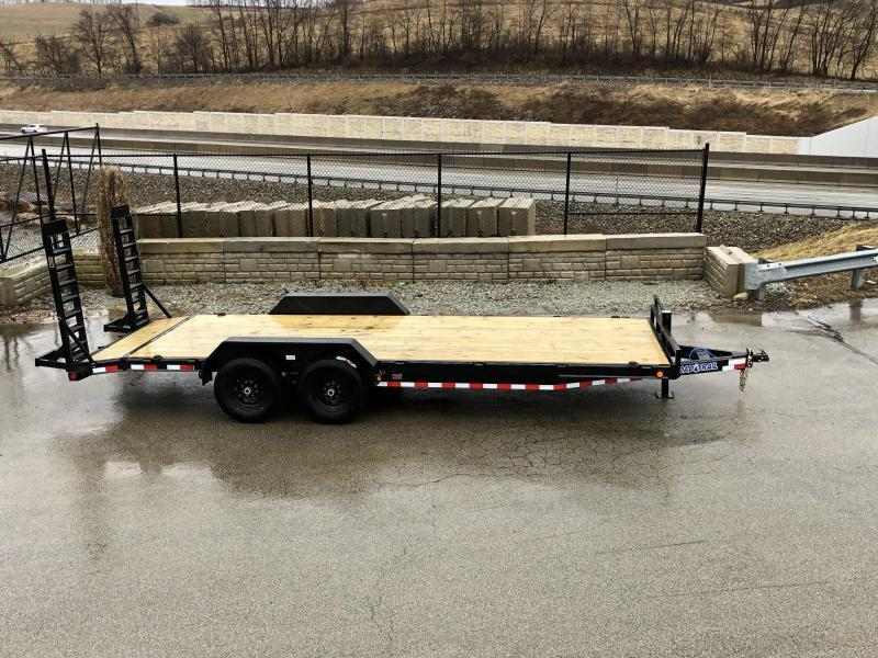 2019 Load Trail 7x22' Equipment Trailer 14000# GVW * CH8322072-EQ * STAND UP RAMPS * D-RINGS * COLD WEATHER * DEXTER'S * 2-3-2 * POWDER PRIMER