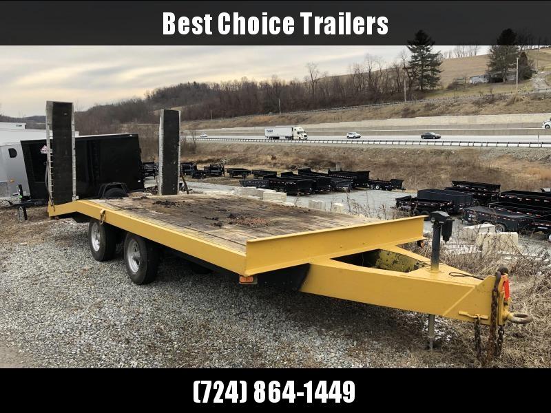 USED Gene Flatbed Trailer 8x16+4' 14000# GVW