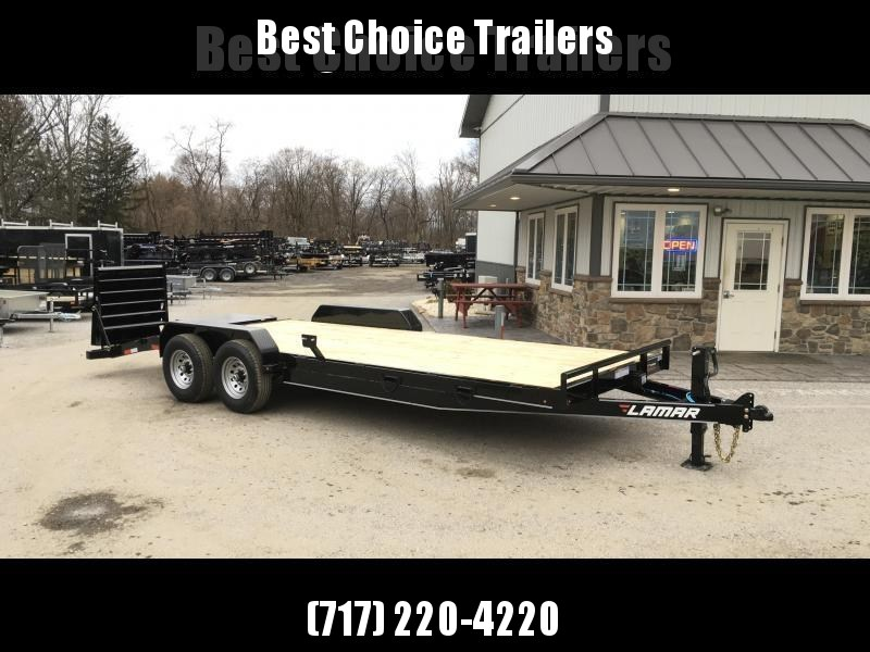 2018 Lamar 7x20' Equipment Trailer 14000# GVW - FULL WIDTH RAMPS
