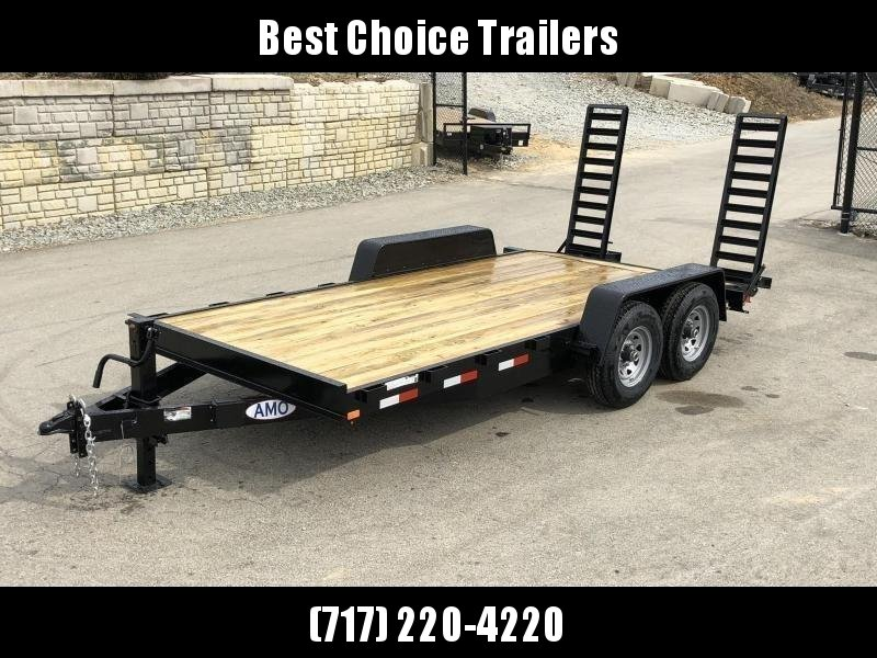 2019 AMO 7x16' Equipment Trailer 12000# GVW * STAND UP RAMPS * LED TAIL LIGHTS in Ashburn, VA