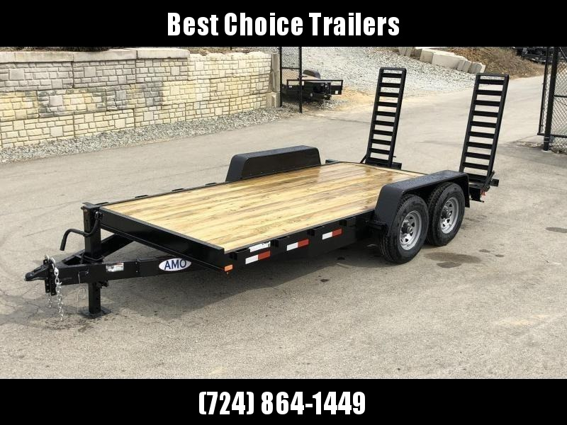 2019 AMO 7x16' Equipment Trailer 12000# GVW * STAND UP RAMPS * LED TAIL LIGHTS