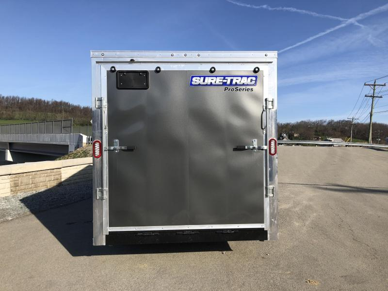2018 Sure-Trac 7x16' Enclosed Cargo Trailer 7000# GVW * CHARCOAL * CLEARANCE - FREE ALUMINUM SPARE