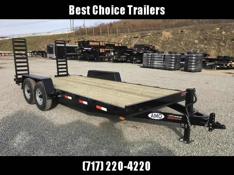 2019 AMO 7x18' Equipment Trailer 12000# GVW * STAND UP RAMPS