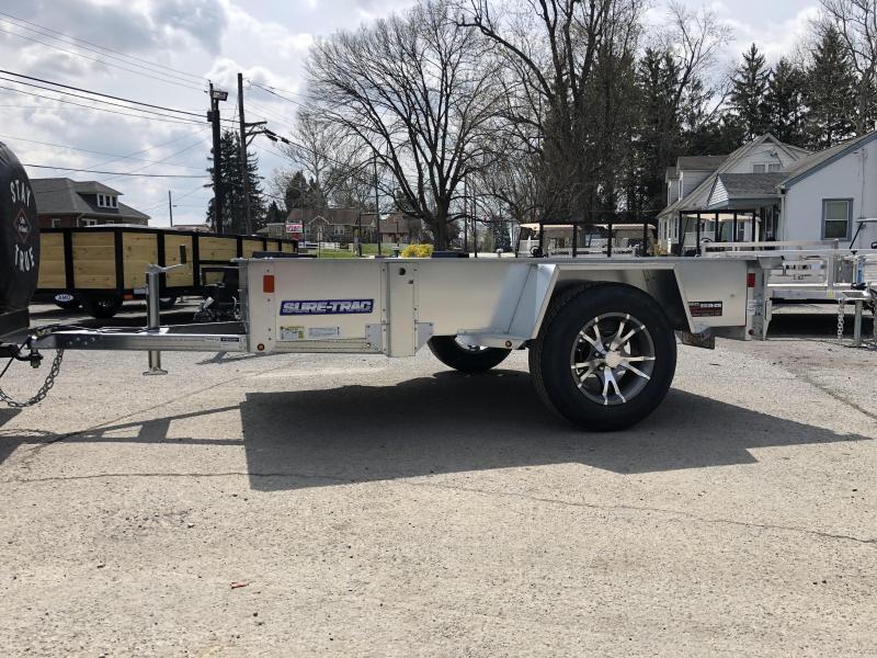 2019 Sure-Trac 5x8' Galvanized High Side Landscape Utility Trailer 2990# GVW * CLEARANCE - FREE ALUMINUM WHEELS