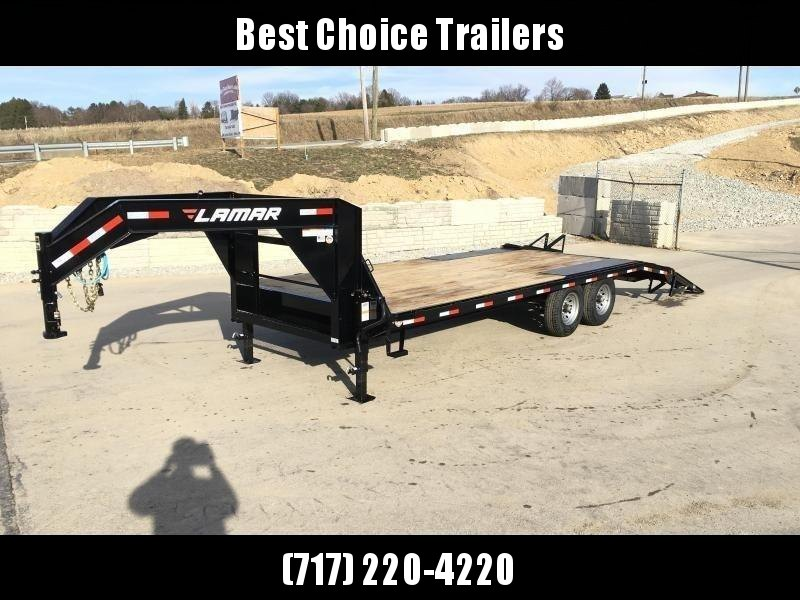 2018 Lamar 102x20+4' Gooseneck Beavertail Deckover Trailer 14000# STAND UP RAMPS * CHARCOAL