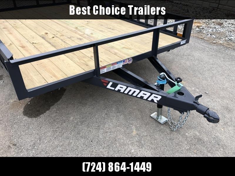 2019 Lamar 7x12' 2990# Landscape Utility Trailer * ATV RAMPS * CHARCOAL