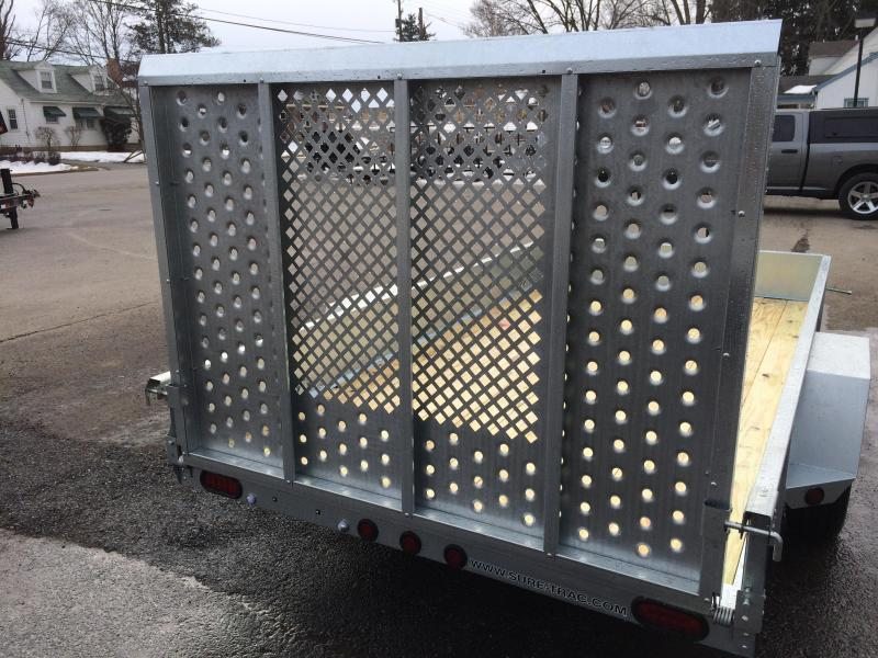 2019 Sure-Trac 6x10' Galvanized High Side Landscape Utility Trailer 2990# GVW