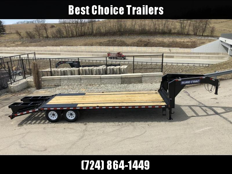 2018 Sure-Trac 102x20+5' Gooseneck Beavertail Deckover Trailer 15000# GVW * PIERCED FRAME * CLEARANCE - FREE ALUMINUM WHEELS