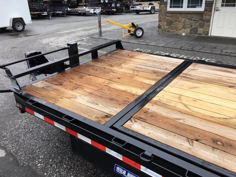 2018 Sure Trac Gravity Tilt Equipment Trailer 7'X16+4' 16000# OAK DECKING