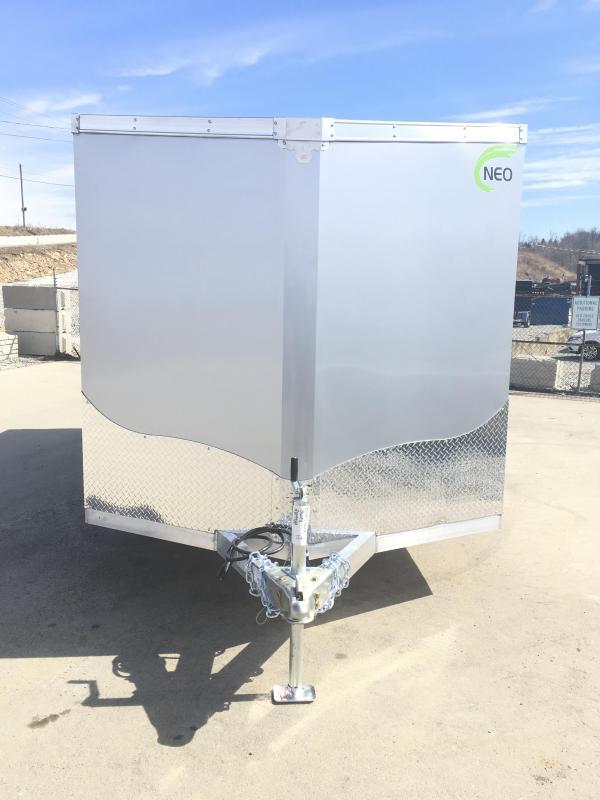 2019 Neo 7x14 NAVF Aluminum Enclosed Cargo Trailer * RAMP DOOR * SILVER