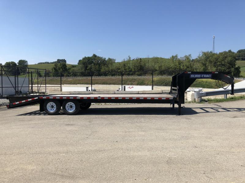 2018 Sure-Trac 102x20+5 15000# Gooseneck Beavertail Deckover Trailer * PIERCED FRAME * 2 SPEED JACKS * MUD FLAPS