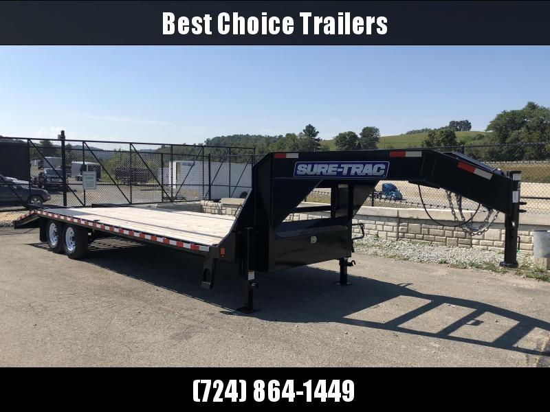 2018 Sure-Trac 102x20+5 15000# Gooseneck Beavertail Deckover Trailer * PIERCED FRAME * 2 SPEED JACKS * MUD FLAPS * CLEARANCE - FREE ALUMINUM WHEELS