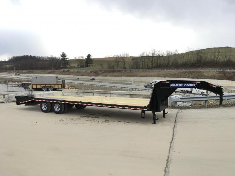 2019 Sure-Trac 102x27+5 22K Gooseneck Beavertail Deckover Trailer * PIERCED FRAME * FULL WIDTH RAMPS