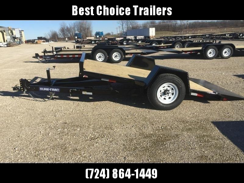 "2019 Sure-Trac 78""x12' 7000# GVW Tilt Equipment Trailer Scissor Hauler - OAK DECKING"
