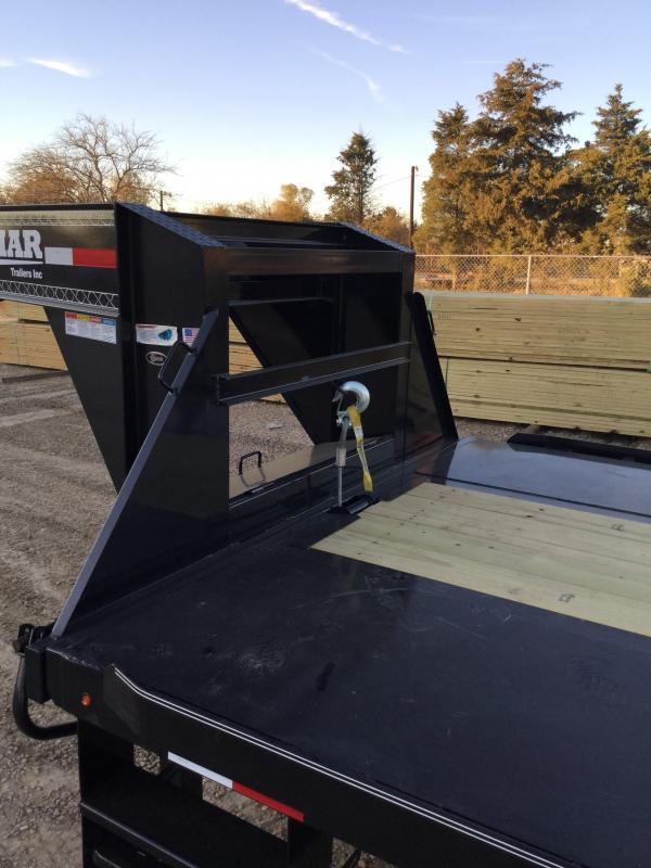 2018 Lamar 102x40' 20000# Dual Tandem Deckover Power Tilt Sea Container Trailer