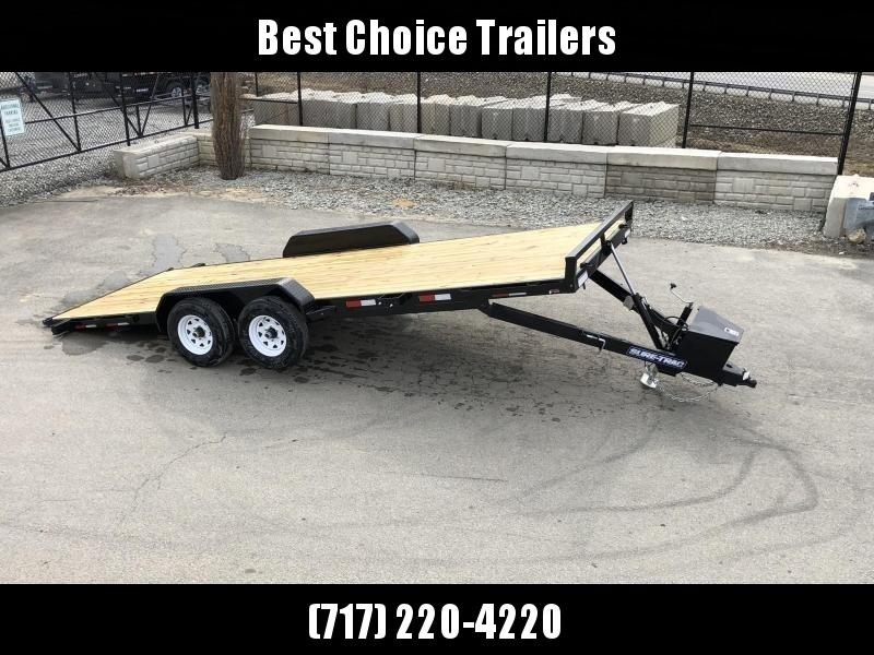 2019 Sure Trac 7x20' 9900# POWER Tilt Car Trailer * ST8220CHWPT-B-100 * STEEL DECK UPGRADE
