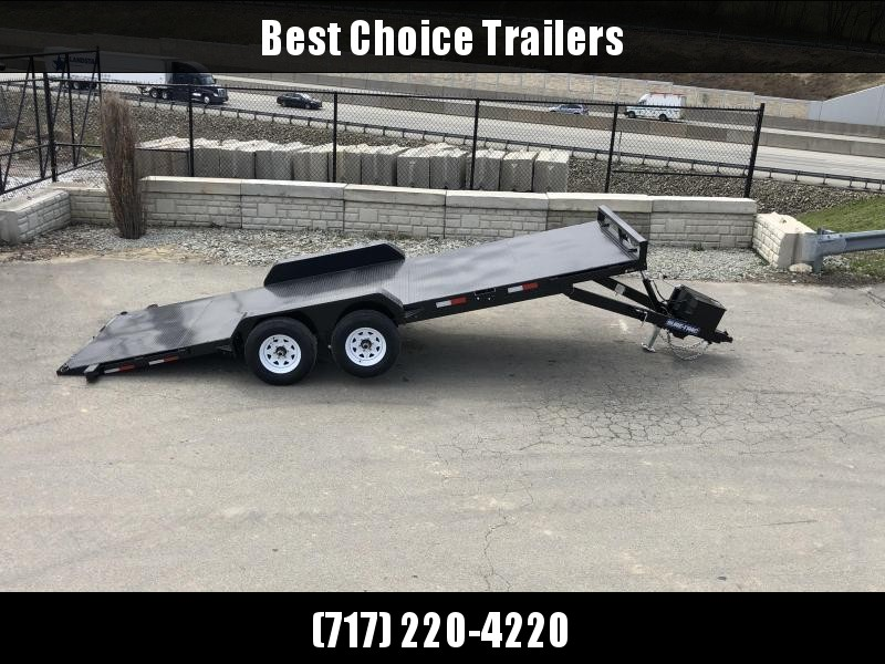 2019 Sure Trac 7x20' 9900# POWER Tilt Car Trailer * ST8220CHWPT-B-100 * STEEL DECK UPGRADE