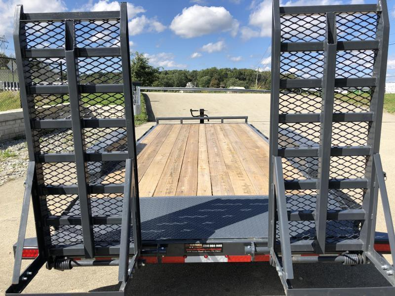 2018 Lamar 7x18' H6 Equipment Trailer 14000# GVW - DELUXE RAMPS * CLEARANCE - FREE ALUMINUM WHEELS