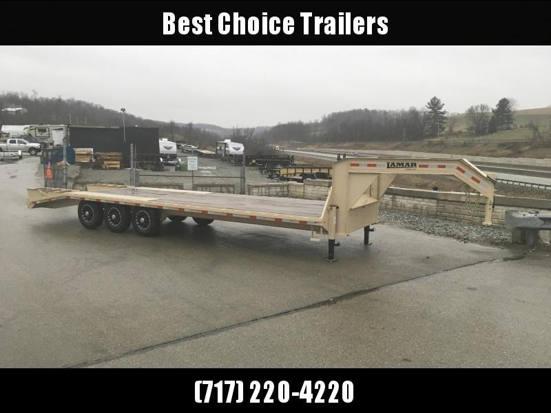 2018 Lamar 102x23+5' Gooseneck Beavertail Deckover Trailer 21000# * 2 FLIPOVER RAMPS * CHARCOAL