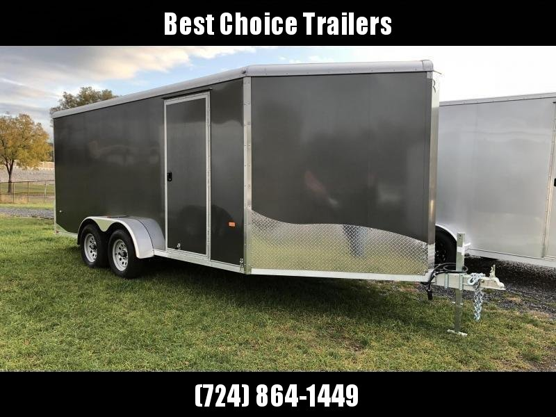 """2019 Neo 7x20' Aluminum Enclosed Snowmobile All-Sport Trailer * 2-SLED or 3-SLED * CHARCOAL * FRONT RAMP * NXP LATCHES * FLOOR TIE DOWN SYSTEM * REAR JACKSTANDS * UPGRADED 16"""" OC FLOOR * UPPER CABINET"""