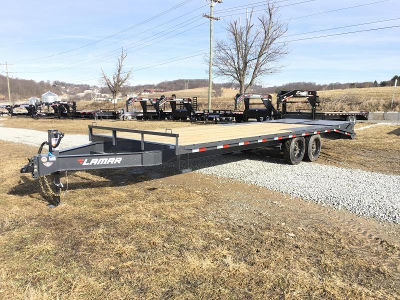 "2018 Lamar F8 102x24' Beavertail Deckover Trailer 14000# GVW FULL WIDTH RAMPS * 17.5"" RUBBER * CHARCOAL * 16"" O.C. FLOOR * OIL BATH"