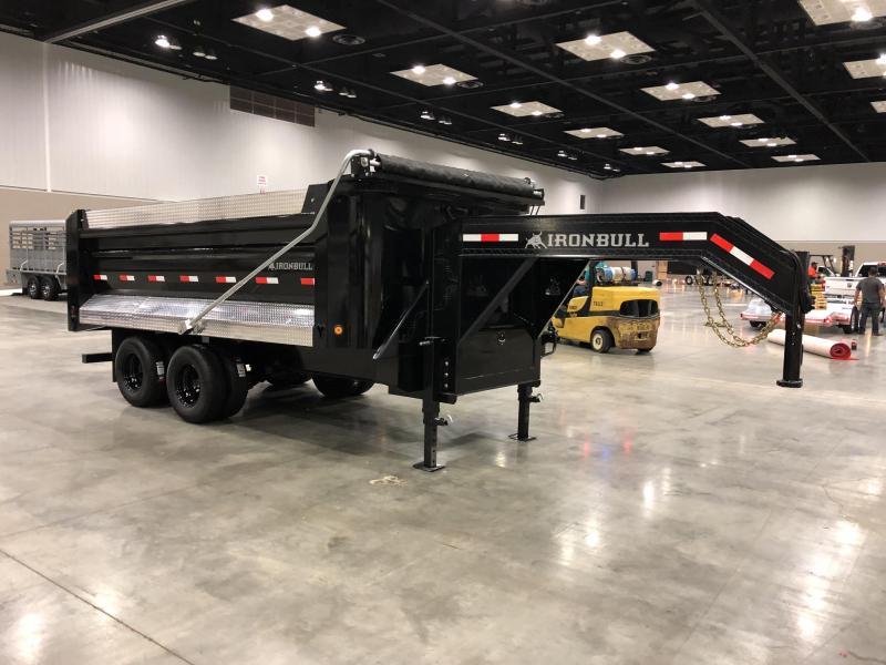 2018 Ironbull Dump Trailer 8x16' 22000# GVW Frankendump * DELUXE TARP * BLACK WHEEL * ATP PACKAGE * SIDE EXTENSIONS
