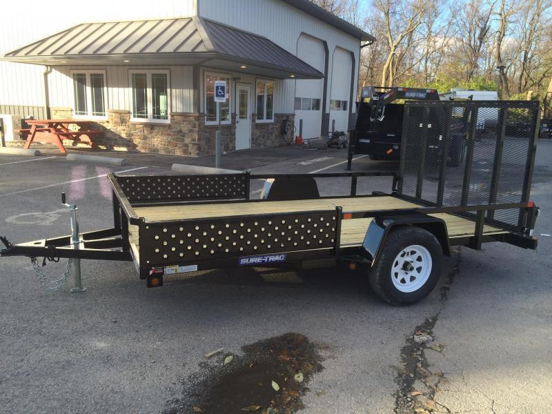 2018 Sure-Trac 7x14' Tube Top Utility Trailer 2990# GVW - ATV RAMPS * CLEARANCE - FREE ALUMINUM WHEELS