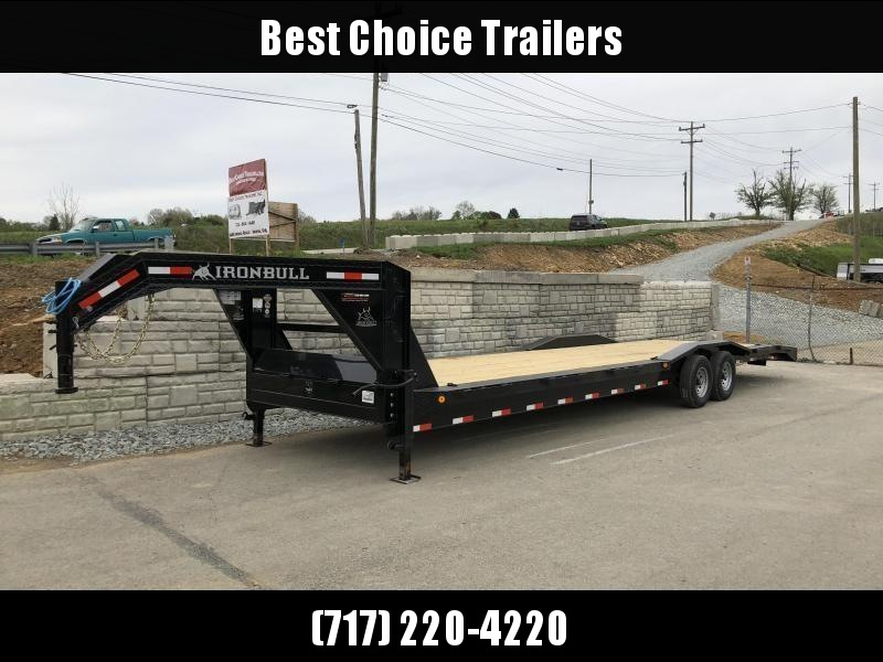 "2019 Ironbull 102x34' Gooseneck Car Hauler Equipment Trailer 14000# GVW * 102"" Deck * Drive Over Fenders * Extended 4' dovetail * Winch plate"
