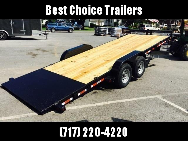 2020 QSA 7x20' 9850# GVW Power Tilt Equipment Trailer * RUBRAIL