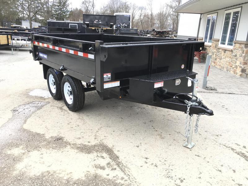 2019 Sure-Trac 6x10' SD Deckover Dump Trailer 9900# GVW * FOLD DOWN SIDES * HIGH SIDES * BARN DOORS * CLEARANCE - FREE ALUMINUM WHEELS