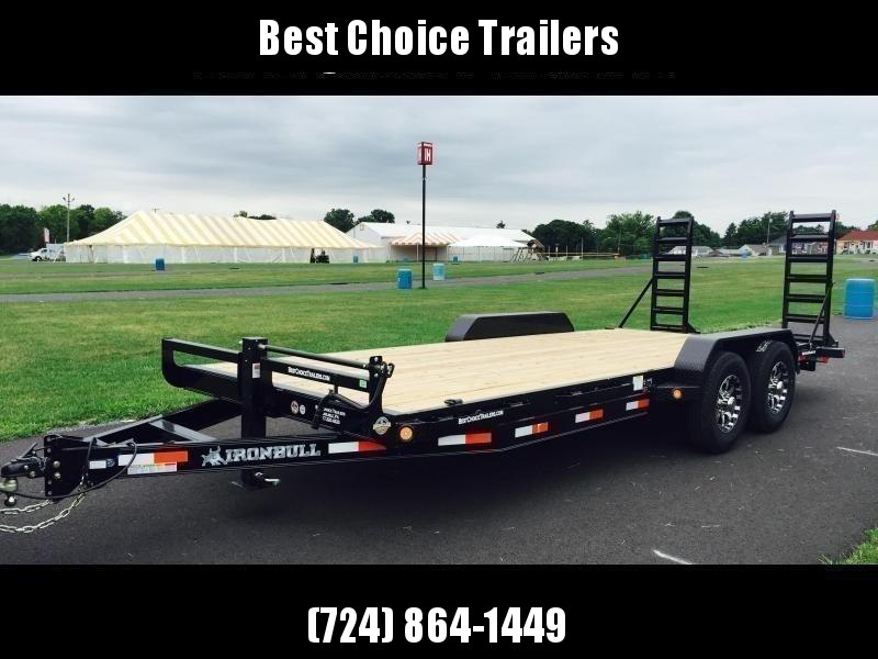 2019 Ironbull 7x22' Equipment Trailer 14000# GVW * RUBRAIL/STAKE POCKETS/PIPE SPOOLS/D-RINGS * ADJUSTABLE KNEE * KNIFEEDGE RAMP * REMOVABLE FENDERS
