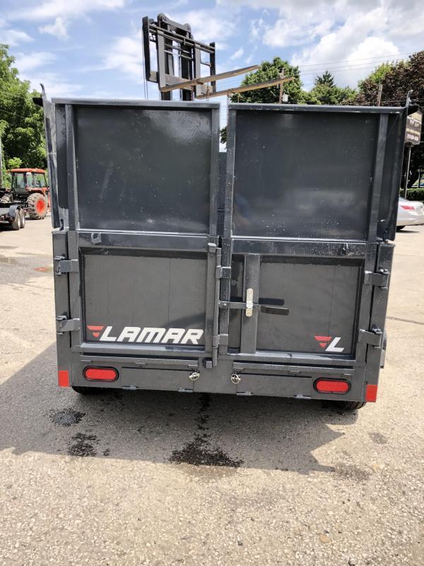 2019 Lamar 5x10' DS60 Dump Trailer 7000# GVW - DELUXE * 12K JACK * RAMPS * TARP * SPARE & MOUNT * 2' HIGH SIDES * 2' SOLID EXTENSIONS * VOLT METER