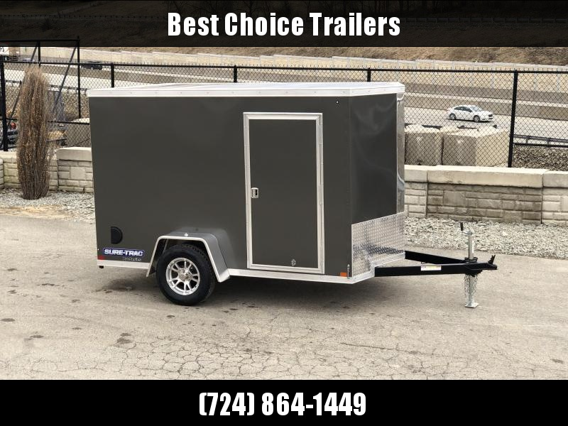 2019 Sure-Trac 6x10' STW Enclosed Cargo Trailer 2990# GVW * CHARCOAL * RAMP DOOR