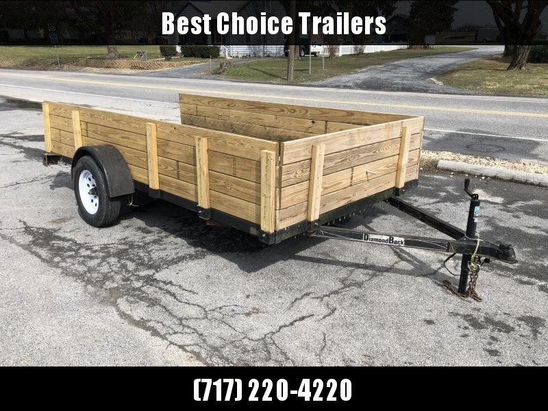 USED Diamondback 6x12 Utility Landscape Trailer 2990# GVW * HIGH SIDE