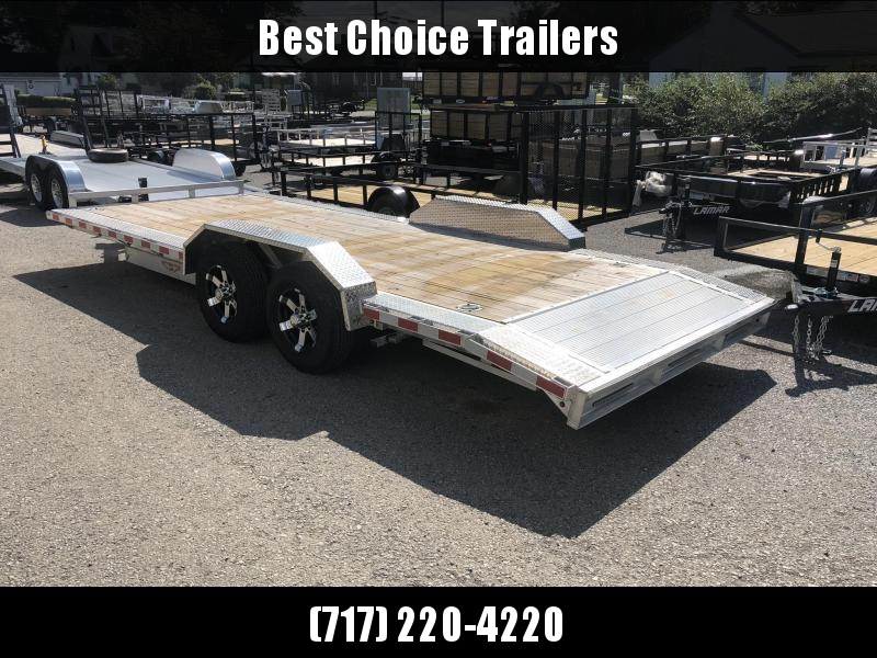 "2018 H&H 102""x20' 9990# Low Profile Aluminum Car Hauler * BUGGY HAULER * LOADED * CLEARANCE PRICED & FREE ALUMINUM SPARE"